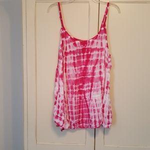 Pink Tye-Dye Babydoll Tank